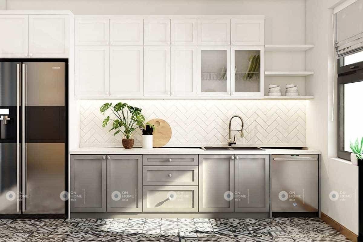 Nội thất phòng bếp nhà phố hiện đại và tinh tế