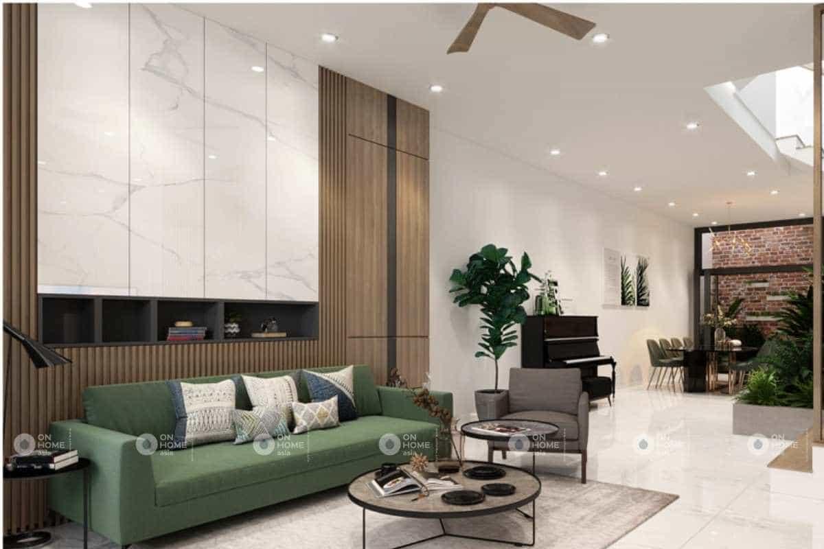 Sắc xanh có vai trò quan trọng trong các mẫu thiết kế nội thất nhà phố đẹp