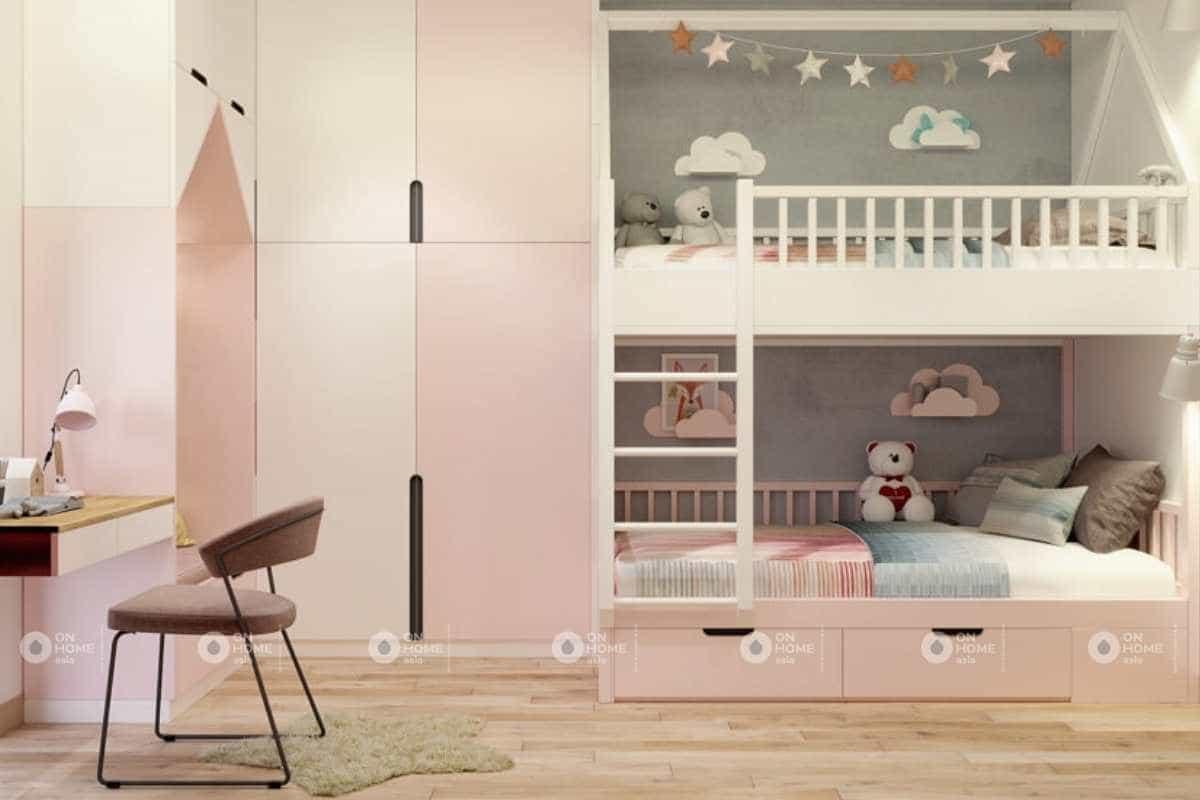 Thiết kế phòng ngủ trẻ emnhà cấp 4