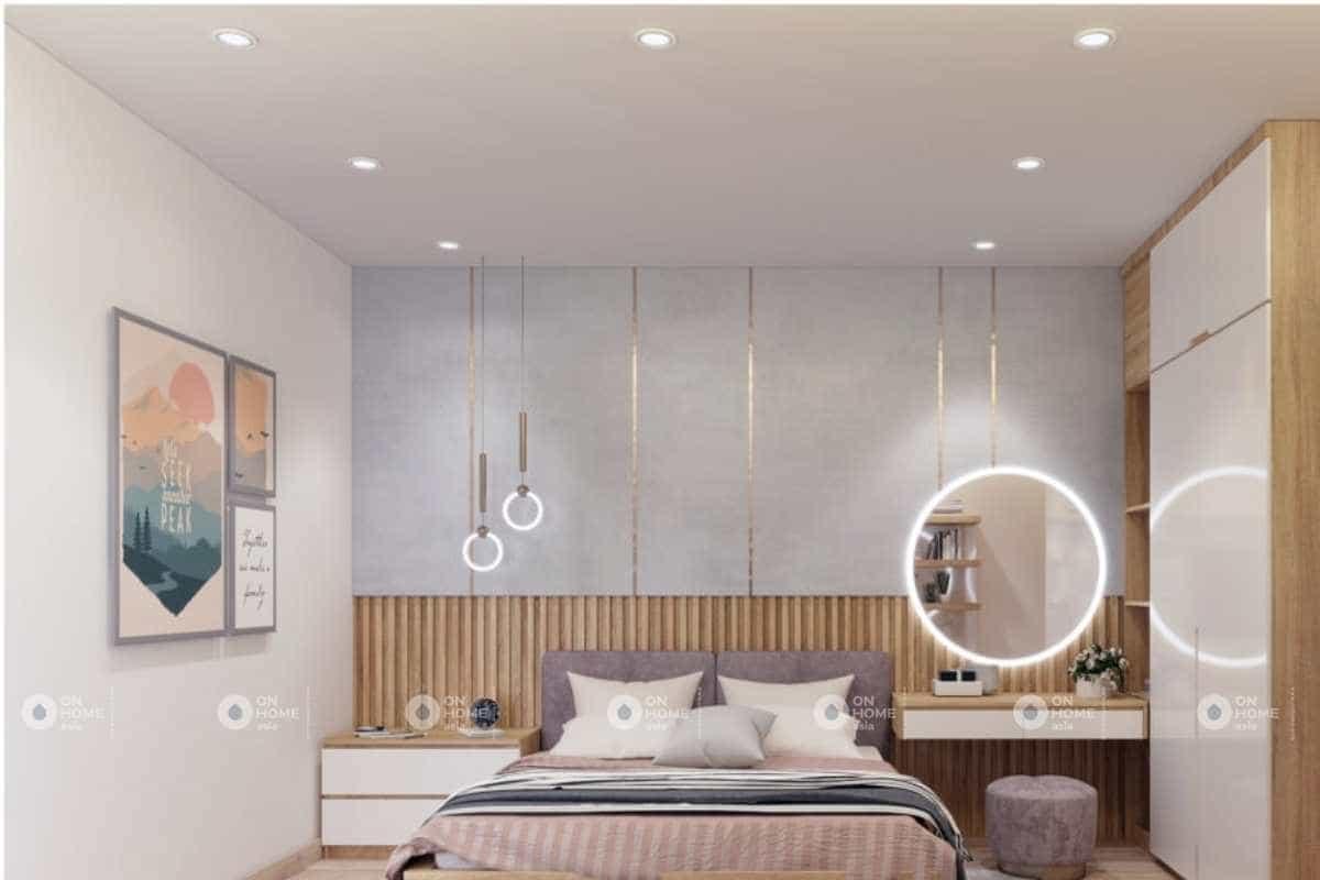 phòng ngủ master nhẹ nhàng nội thất nhà cấp 4