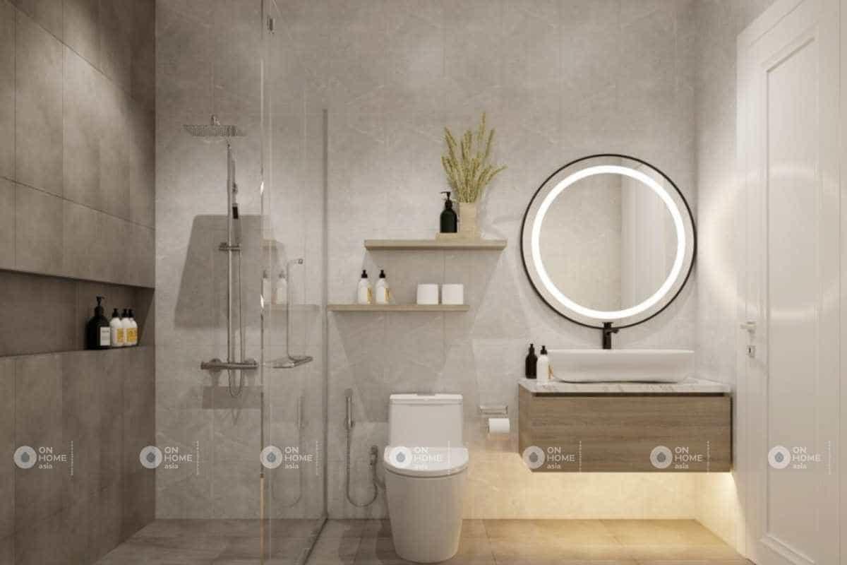 Thiết kế phòng vệ sinh nhà cấp 4 sang trọng