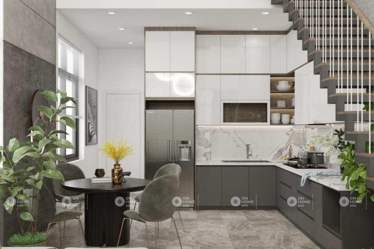 Thiết kế phòng bếp nhà cấp 4 nhỏ đẹp mắt