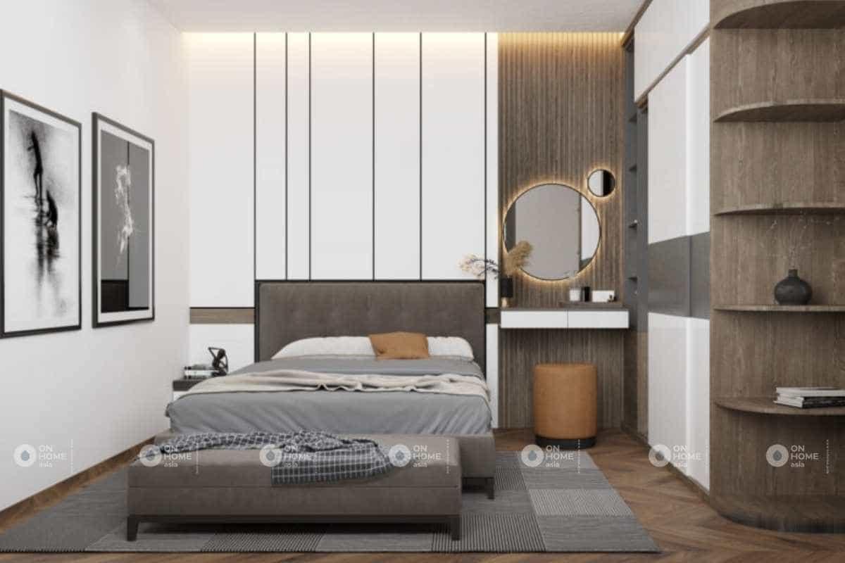 Thiết kế nội thất phòng ngủ master nhà cấp 4 nhỏ