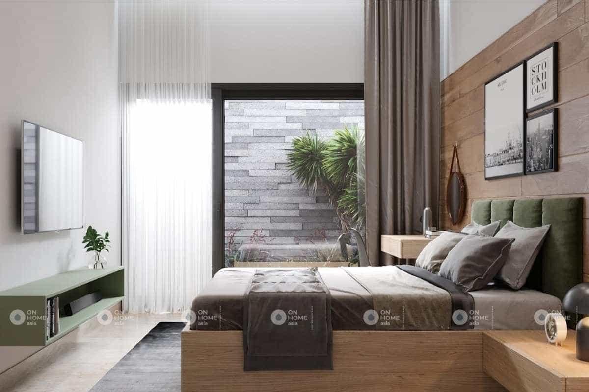 Thiết kế nội thất phòng ngủ nhà cấp 4 đơn giản