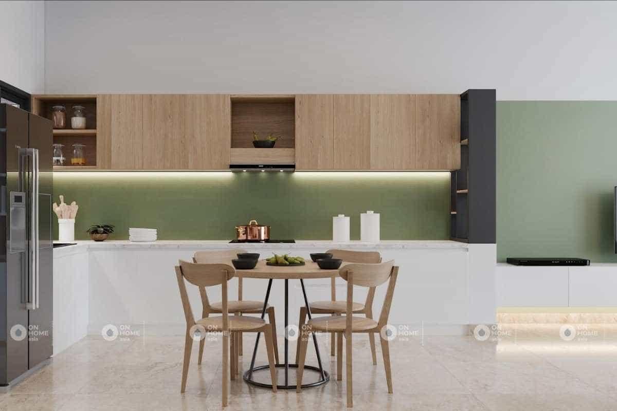 Thiết kế nội thất phòng bếp nhà cấp 4 đơn giản