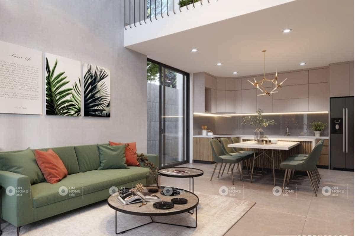 Thiết kế nội thất phòng khách nhà cấp 4 đẹp