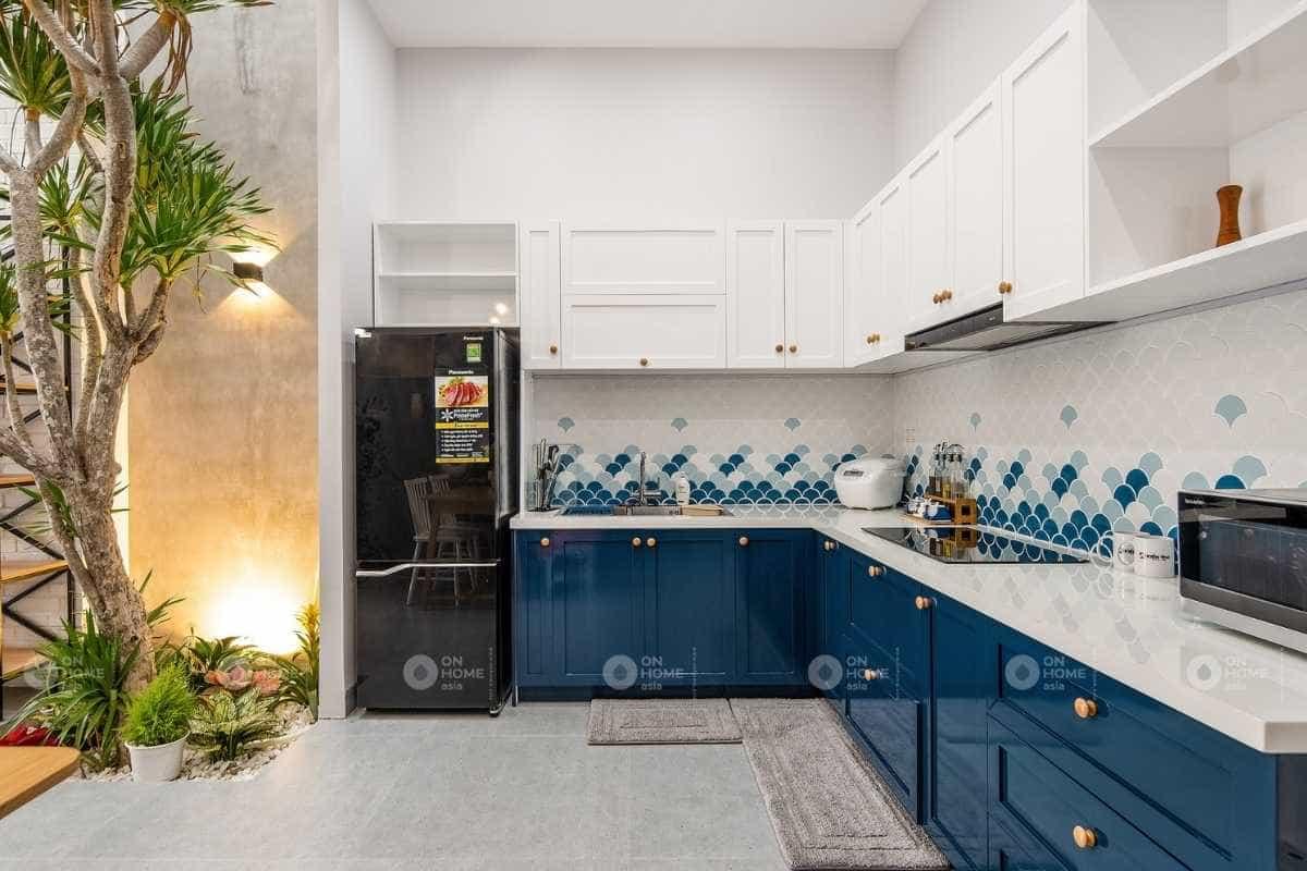 Thiết kế nội thất nhà phố 30m2 với phòng bếp hiện đại