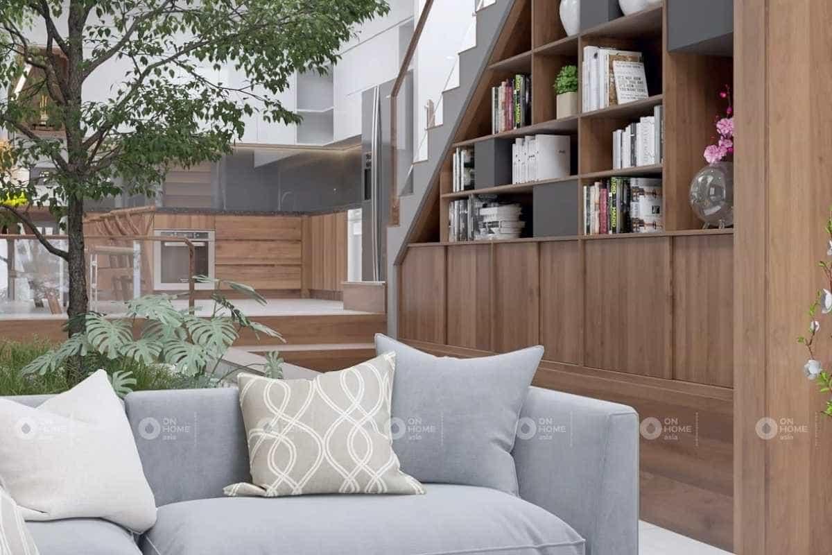 thiết kế nhà diện tích nhỏ 30m2 dành cho phòng khách
