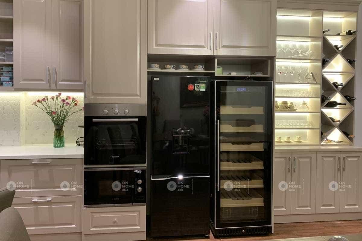 Thiết kế nội thất nhà phố 30m2 với phòng bếp sang trọng