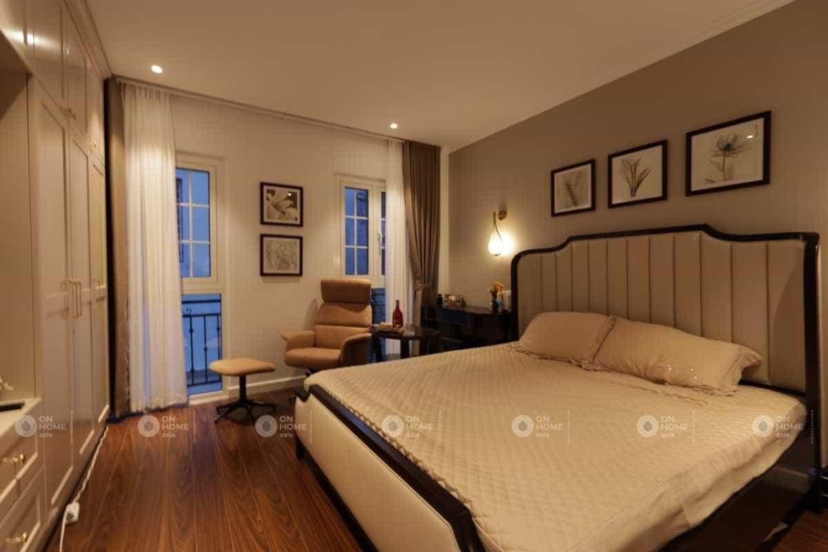 Thiết kế phòng ngủ với gam màu nhã nhặn