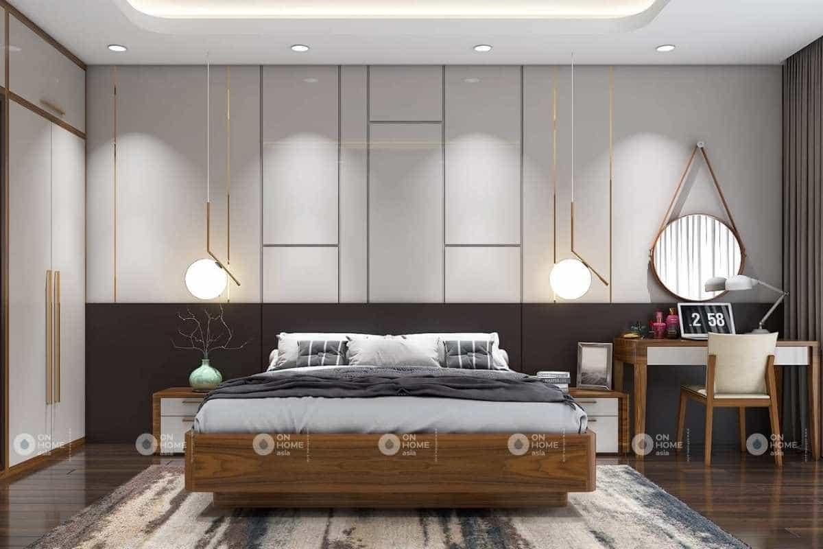 phòng ngủ nhà phố hiện đại