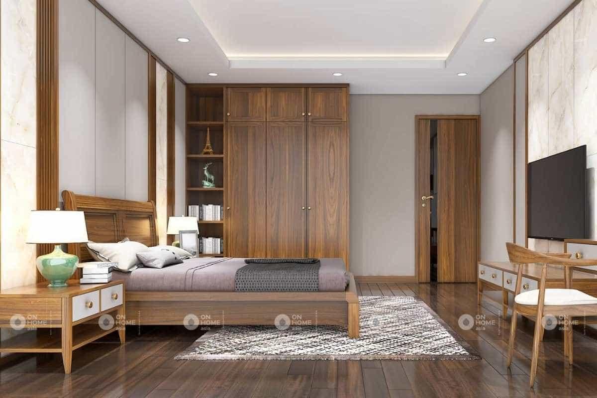 Phòng ngủ master ấm áp và rộng rãi