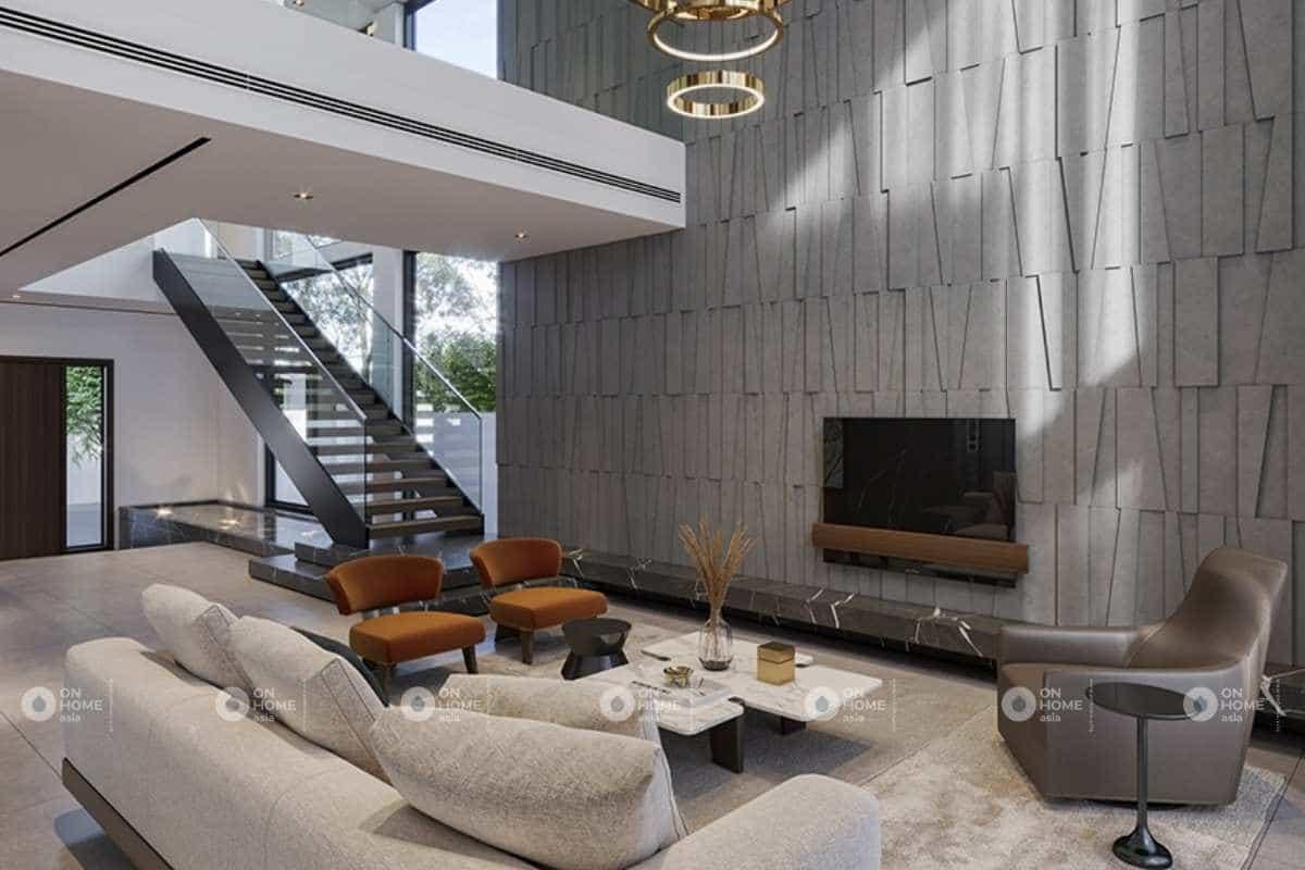 Thiết kế nội thất nhà phố hiện đại với các chi tiết mới lạ
