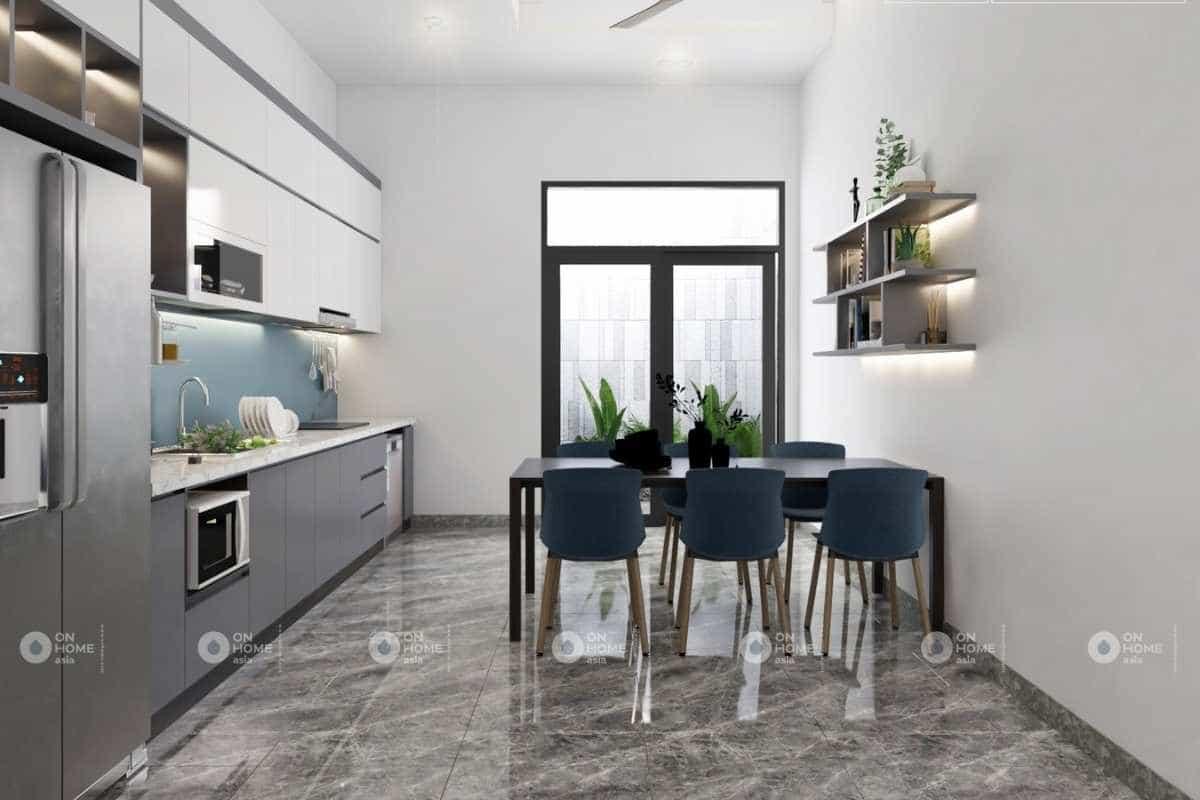 Nội thất phòng bếp đơn giản và hiện đại
