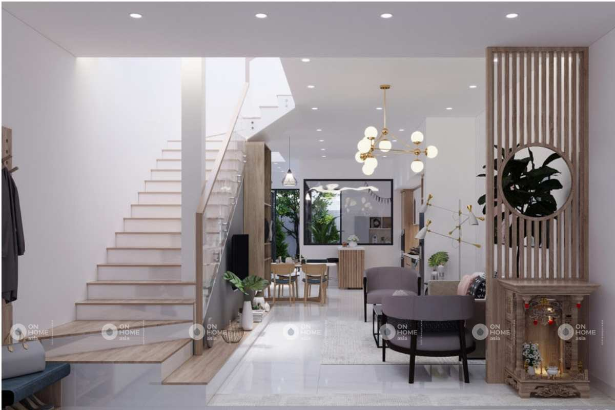 Nội thất nhà phố đẹp, hiện đại và thanh lịch