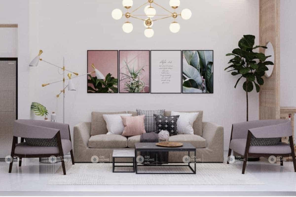 sofa phòng khách nhà phố hiện đại đẹp