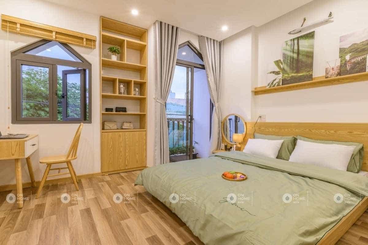 Thiết kế nhà 4 tầng với phòng ngủ con trai