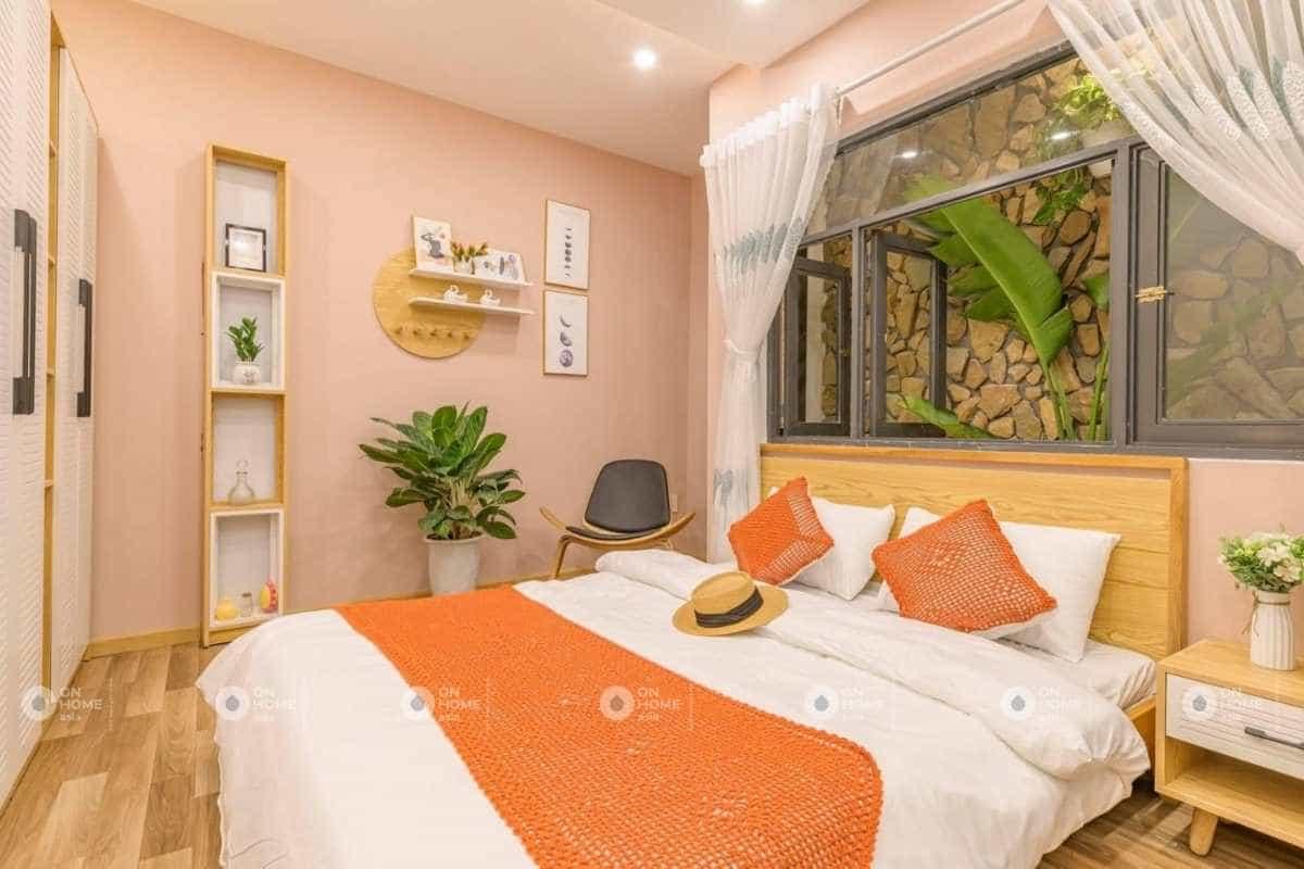 Thiết kế nhà 4 tầng với phòng ngủ con gái