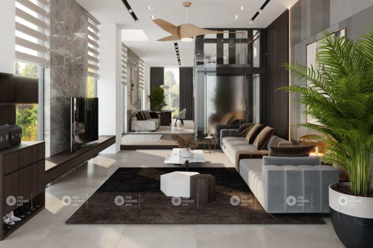Thiết kế nội thất nhà 4 tầng đẹp và sang trọng