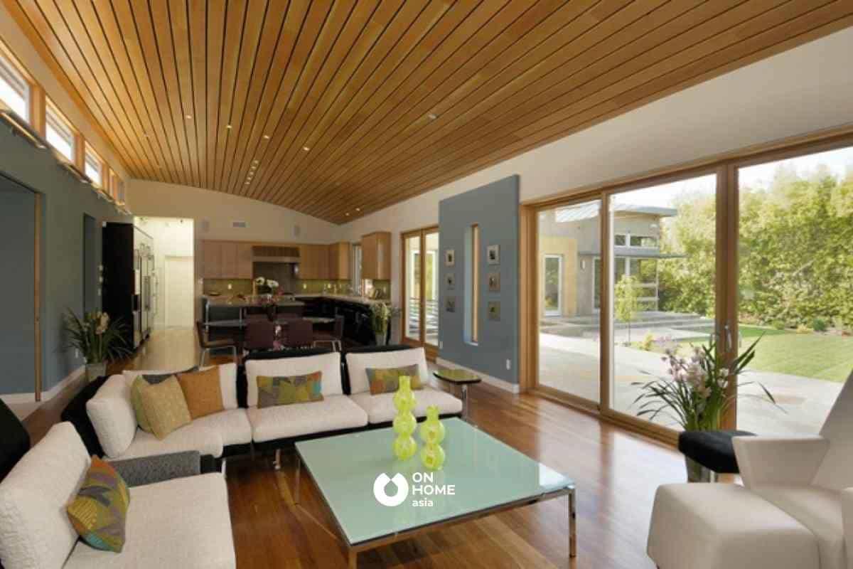Trần gỗ công nghiệp với nhiều ưu điểm vượt trội
