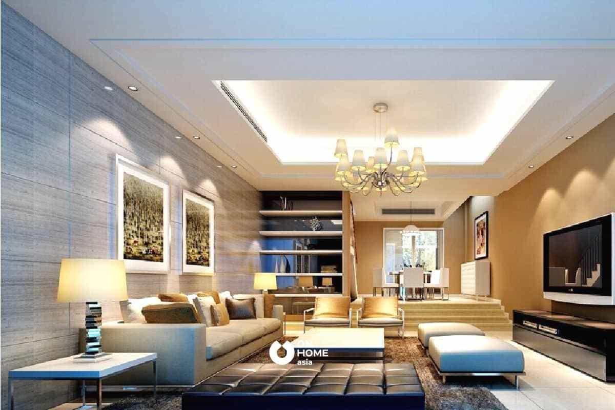Thiết kế trần nhà đẹp nên dựa vào màu của tường