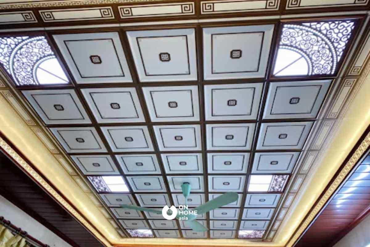 Vật liệu ốp trần nhà từ nhôm không được đánh giá cao về các mẫu mã