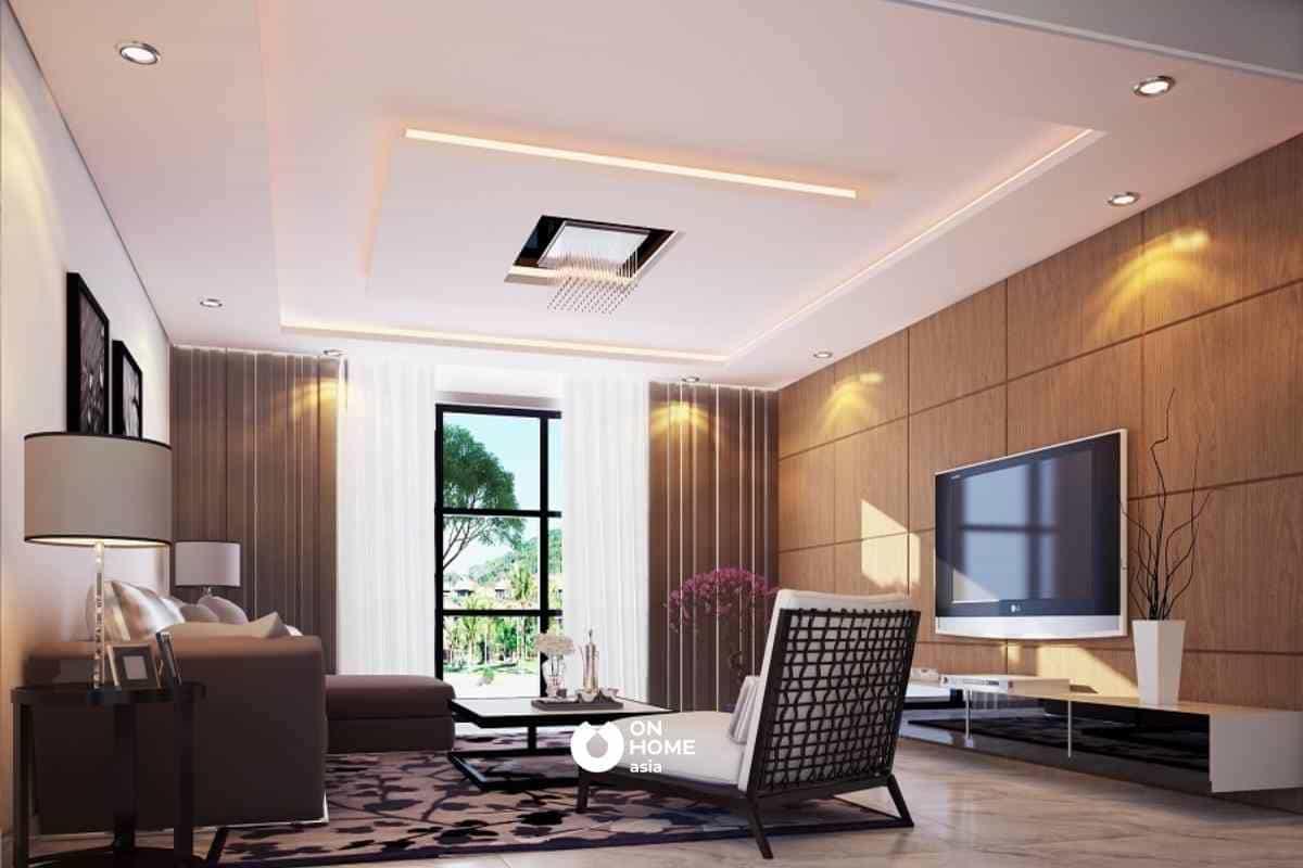 Thạch cao là vật liệu làm trần nhà được nhiều gia đình Việt ưa chuộng