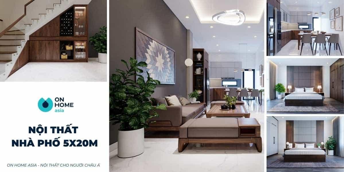 Những mẫu thiết kế nội thất nhà phố 5x20m đang gây bão hiện nay