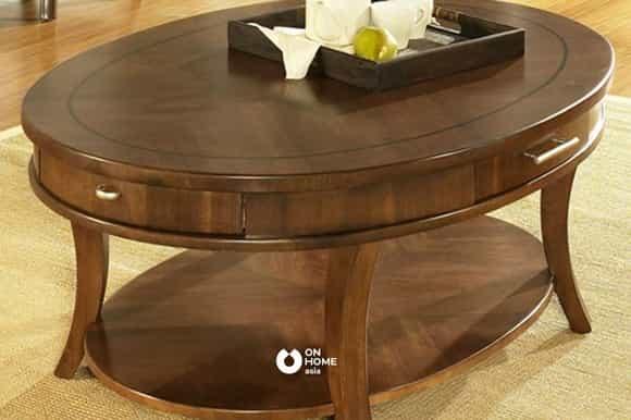 Bàn sofa thông minh gỗ tự nhiên