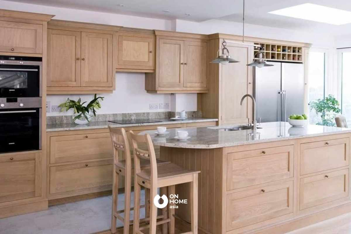 Tủ bếp từ gỗ Tần Bì