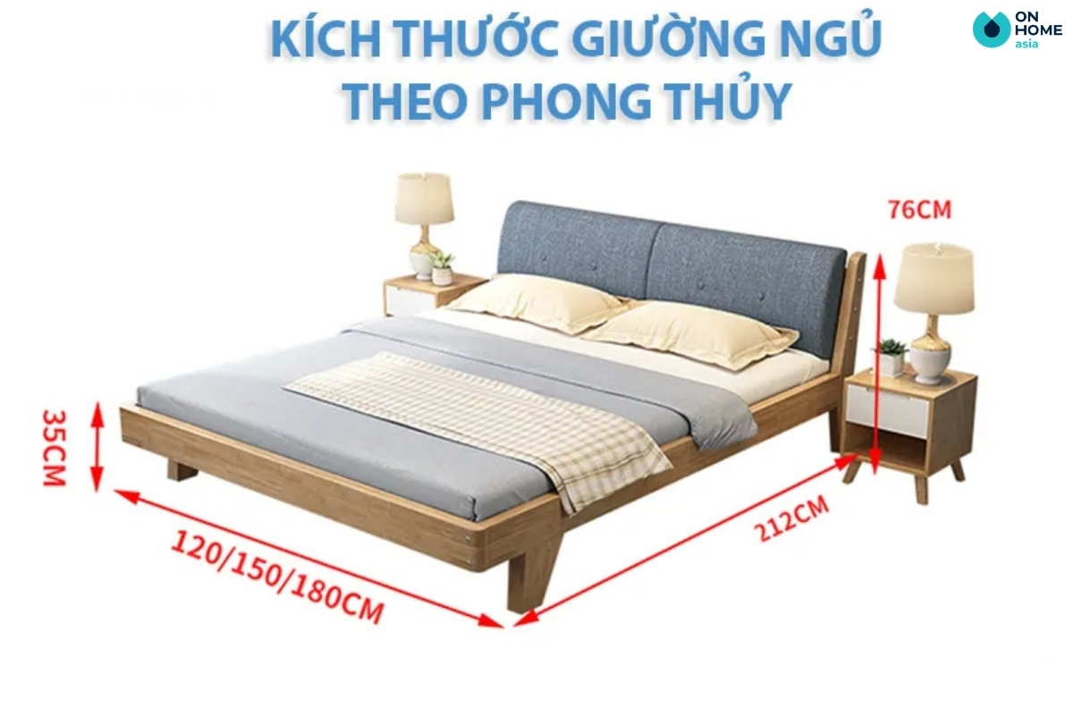 Kích thước giường ngủ đúng phong thủy