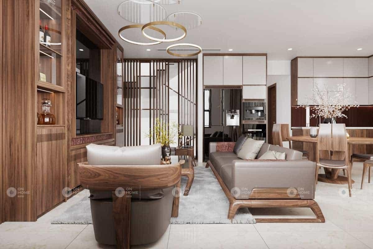 Chất kiệu gỗ tự nhiên đem đến một không gian thanh lịch và tinh tế