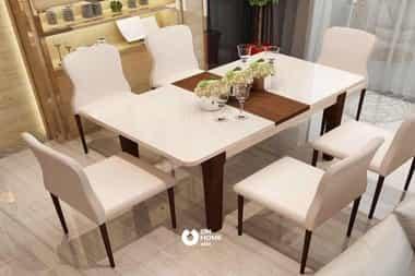 Bộ bàn ăn thông minh 6 ghế
