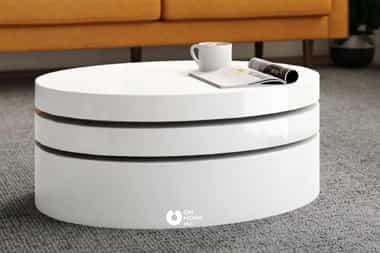 Bàn trà thông minh hình oval