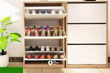 Tủ giày thông minh kèm tủ đồ cao cấp