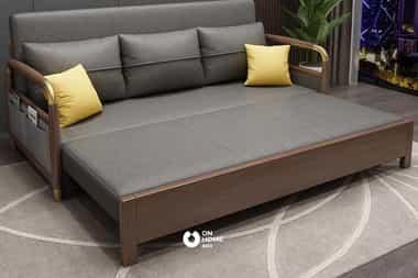 Sofa giường gỗ đệm cao cấp