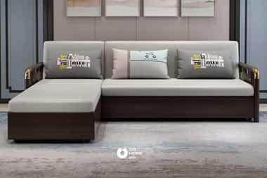 Sofa gỗ nỉ cao cấp