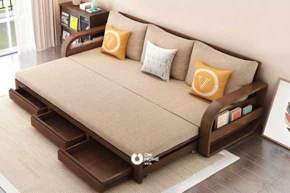 Ghế sofa giường gỗ cao cấp