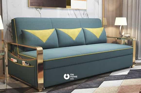 Ghế sofa thông minh viền kim loại
