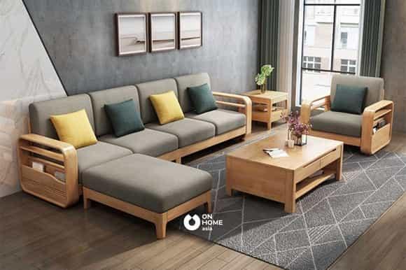 Giường sofa gỗ nệm cao cấp