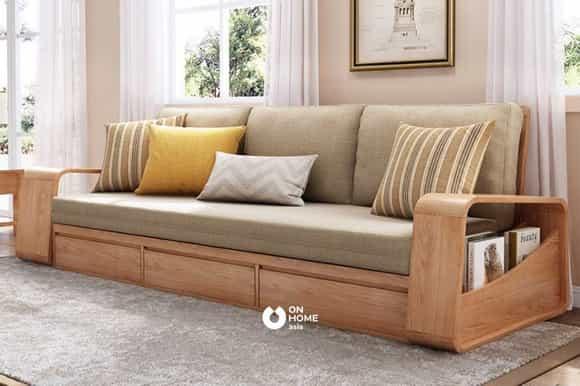 Ghế sofa thông minh gỗ nệm