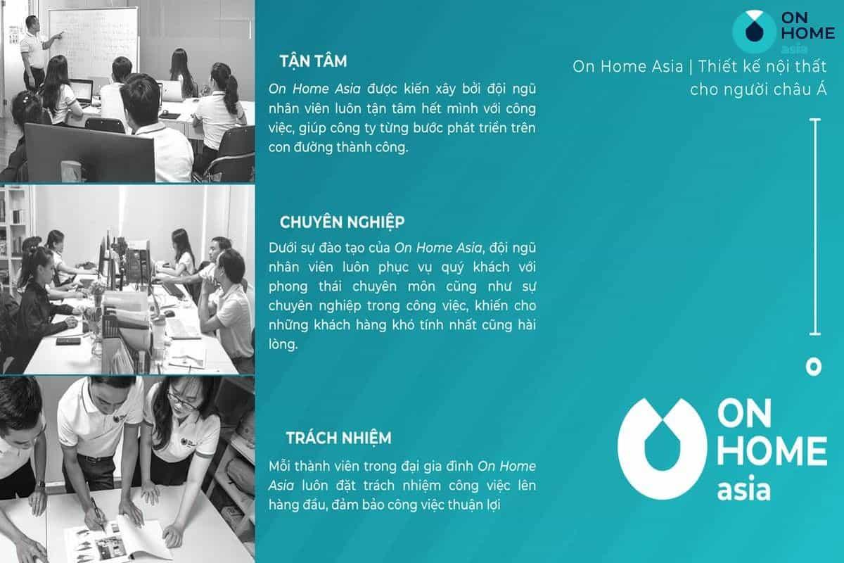 Nên lựa chọn On Home Asia là đơn vị thi công nội thất nhà phố