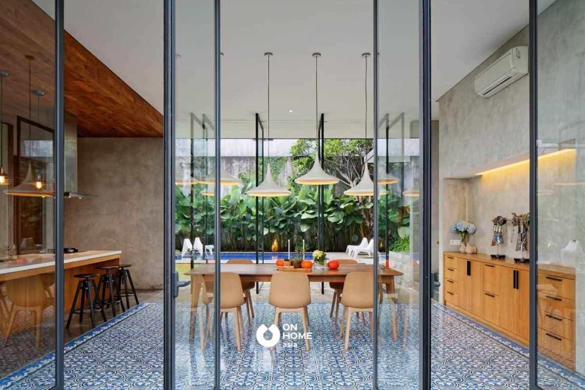Kính là vật liệu nội thất được nhiều gia đình Việt ưa chuộng
