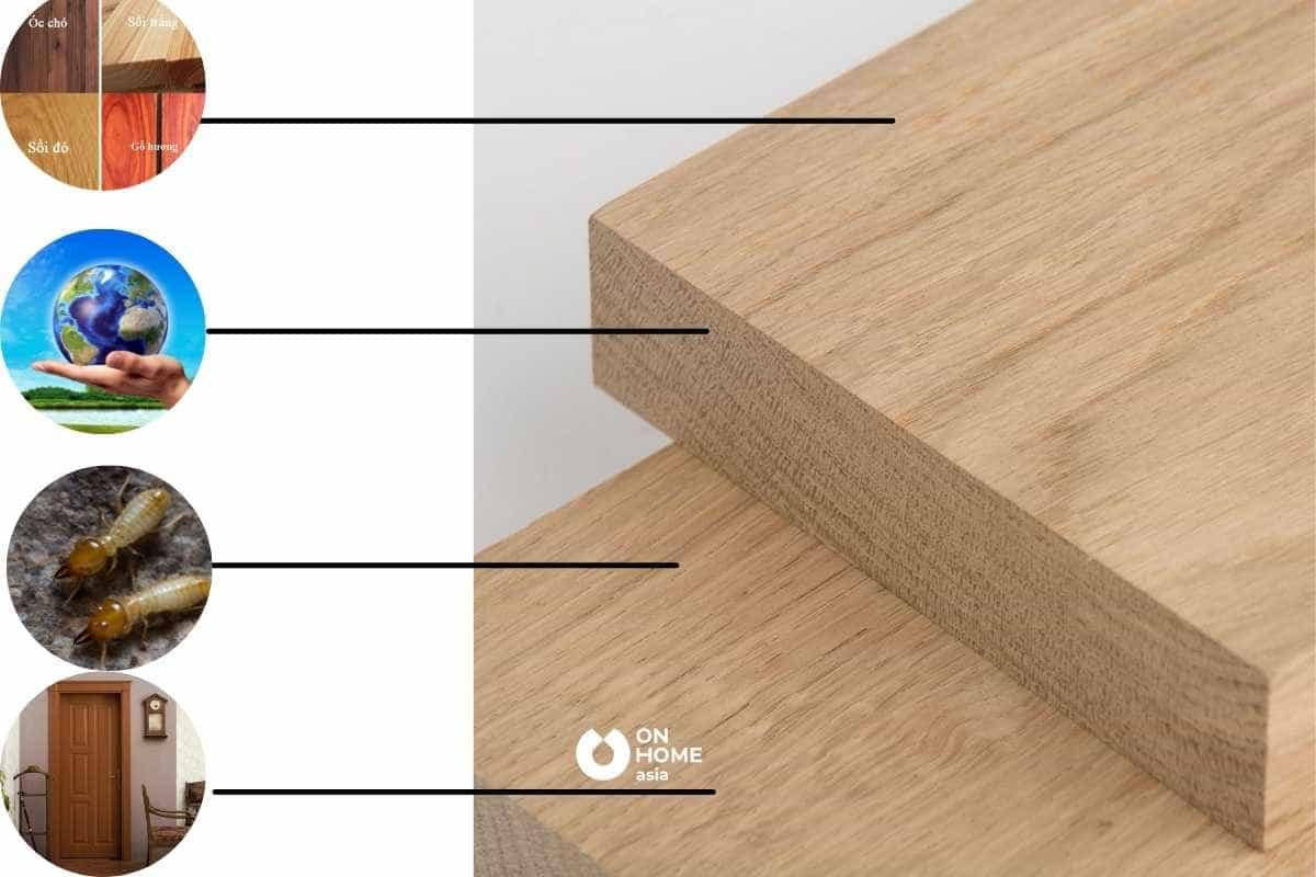 vật liệu nội thất từ gỗ tự nhiên