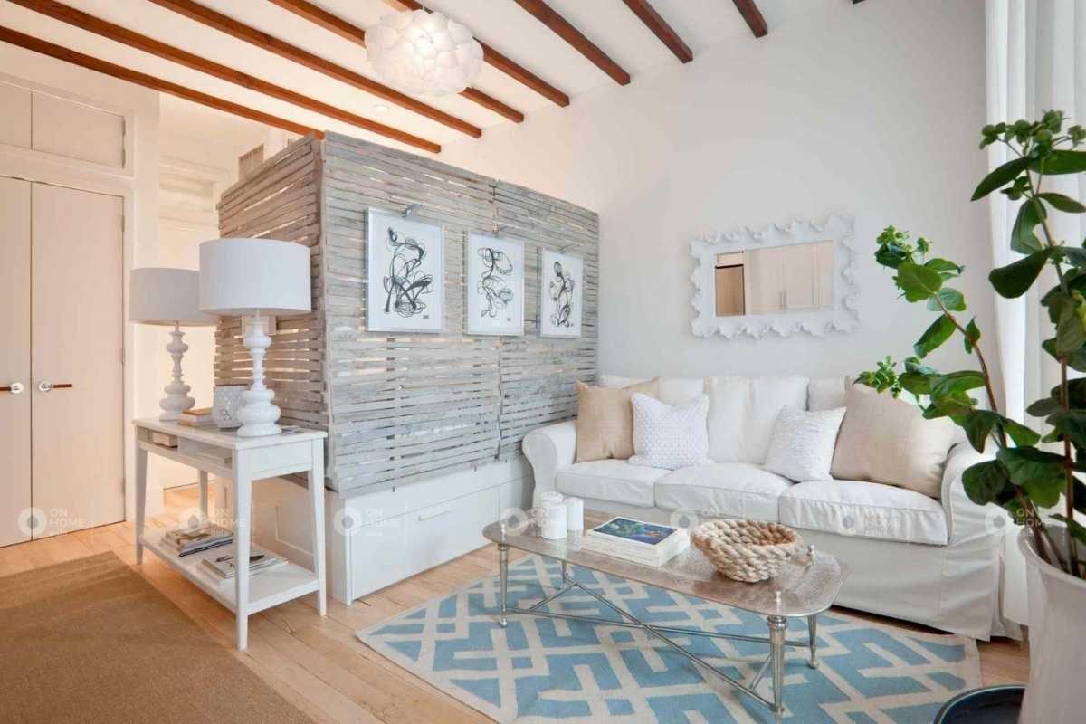 Vách ngăn phân chia giữa phòng khách và phòng ngủ