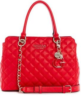 Guess - Cartera Guess Melise Luxury Satchel Red