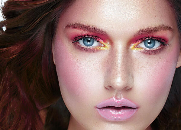 como hacer maquillaje arcoiris