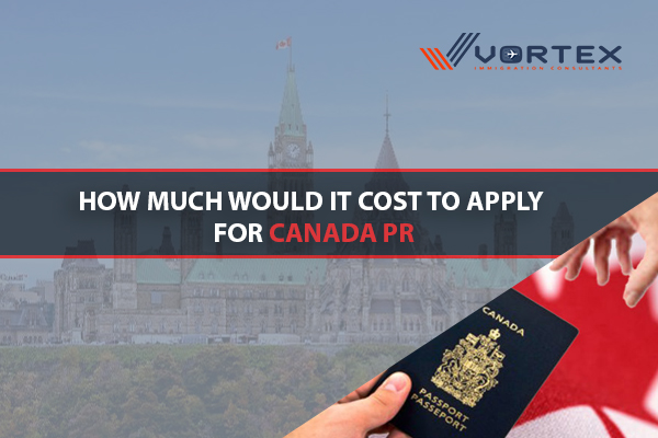 How much would it cost to apply for Canada PR