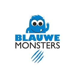 Partner logos blauwe monsters