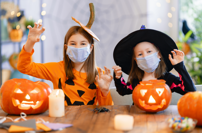halloween covid kids pumpkins